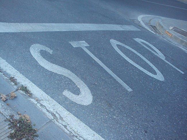 STOP, marca vial