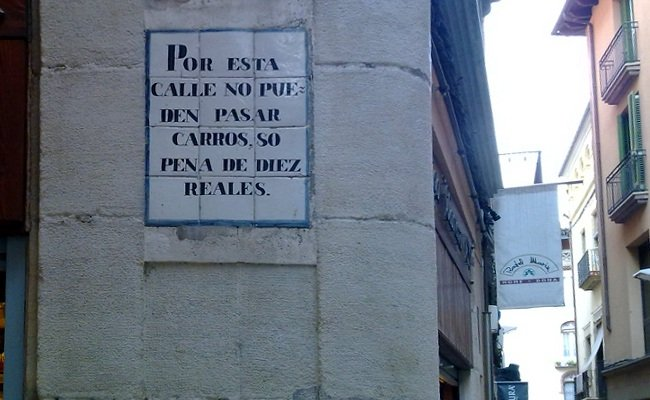Prohibido el paso de carros