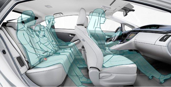 Ocupantes en el Toyota Prius