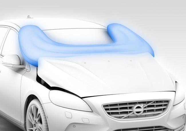 Airbag para peatón, en el Volvo V40