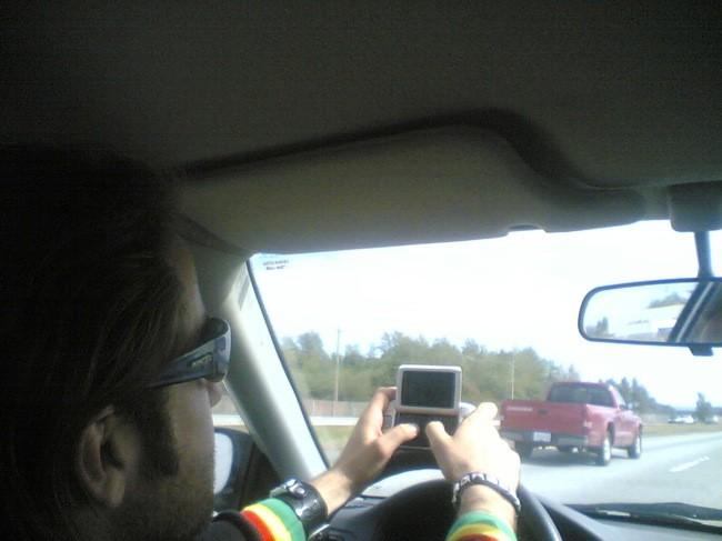 Conducir y escribir en el smartphone