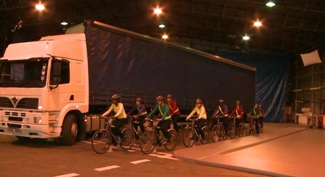 Ciclistas en grupo