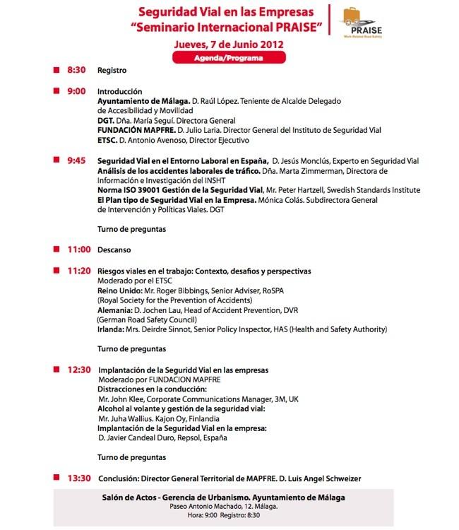 Programa Seminario Internacional PRAISE