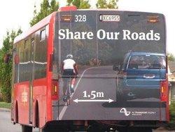 Distancia de seguridad con los ciclistas