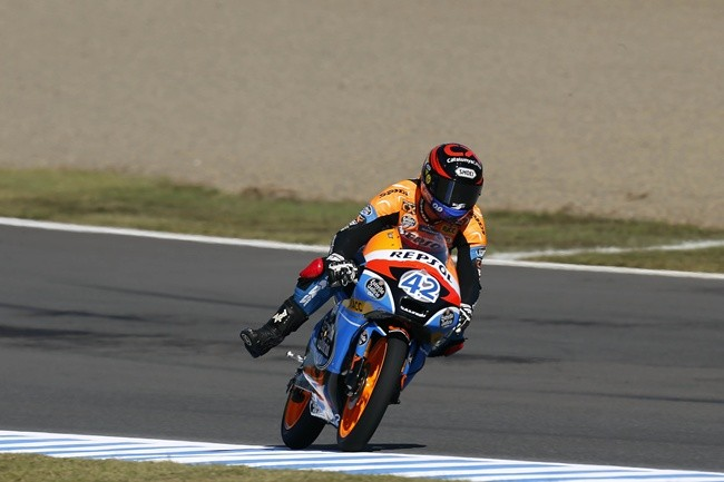 Alex Rins frenando