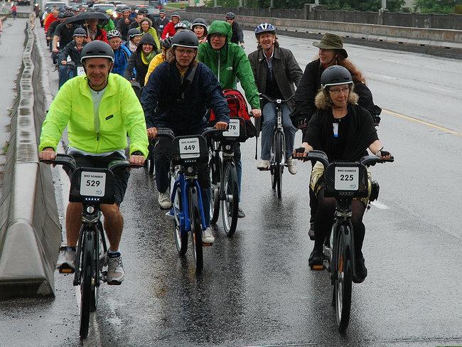 Uso de la bicicleta con lluvia