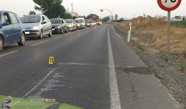 Tramos de concentración de accidentes en las carreteras