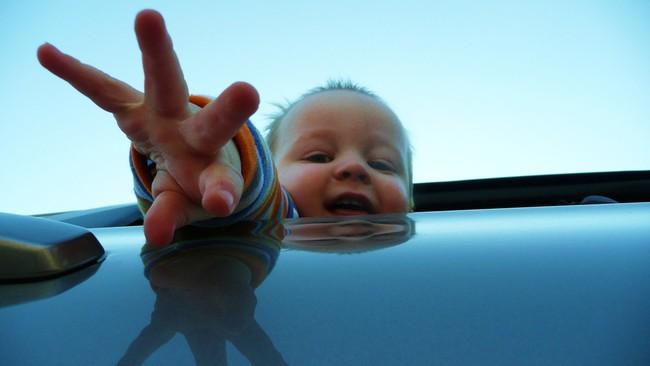 Bebé en el coche
