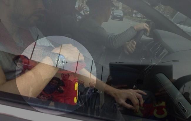 Shakira y Piqué sin sillita infantil en el coche