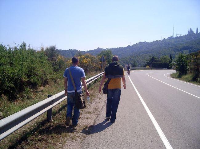 Peatón carretera