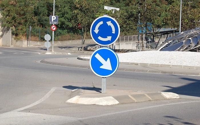 señal de rotonda