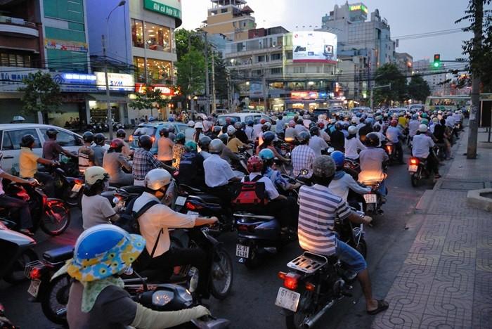 Caos de motocicletas