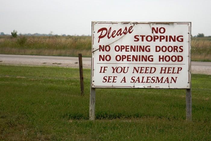 Si necesita ayuda, vea a un vendedor