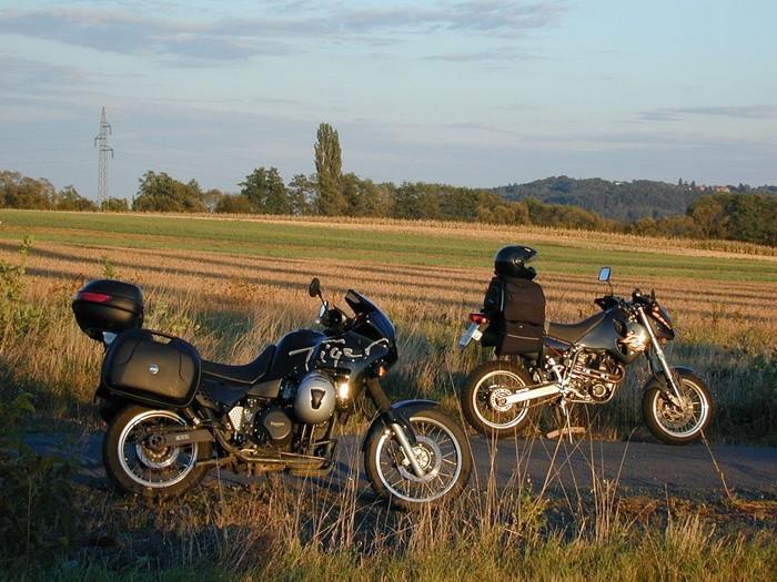 Equipaje en moto