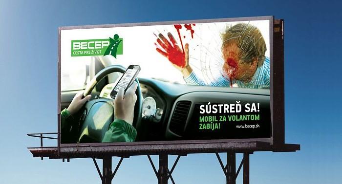 Seguridad Vial en Eslovaquia - campaña teléfono móvil