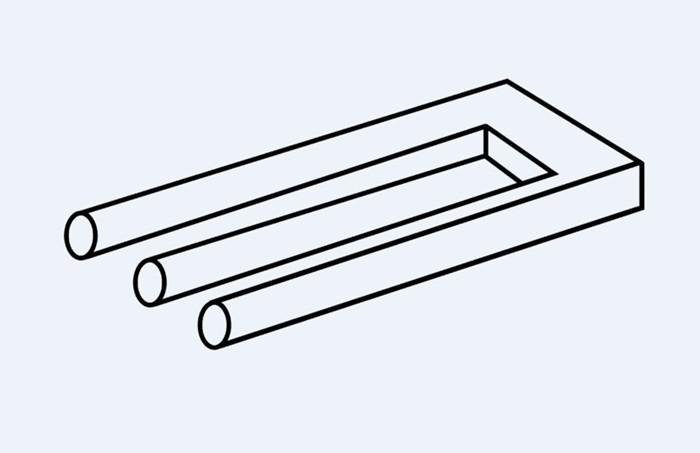 Clásica ilusión óptica, conocida como Blivet