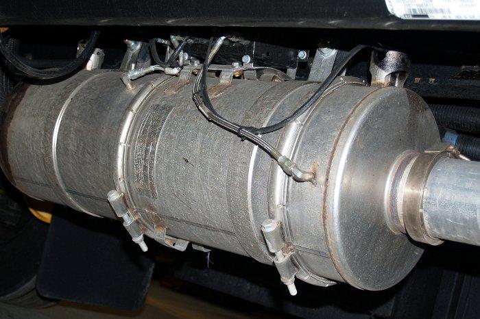 Filtro de partículas Diésel de un vehículo pesado