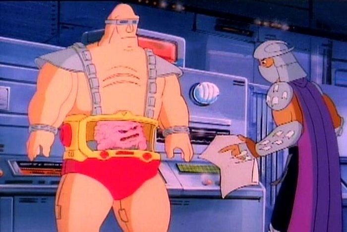 El enemigo de las tortugas ninja, Krang, controlaba su cuerpo mecánico mediante una Interfaz cerebro-ordenador caricaturizada.