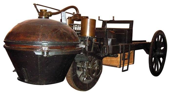 Fardier à vapeur de Cugnot, modelo de 1771