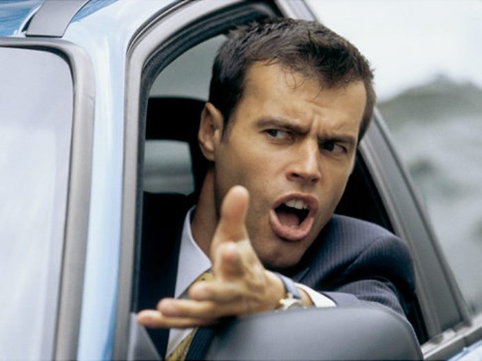 EXASPERATED MAN IN HIS CAR   Original Filename: 10135102.jpg