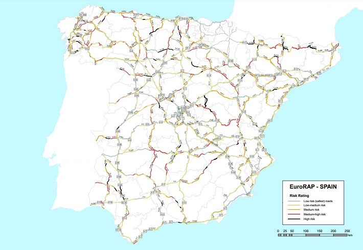 Las peores carreteras de España - EuroRAP 2014