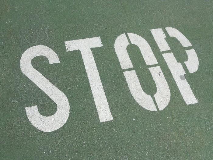 Stop marca vial