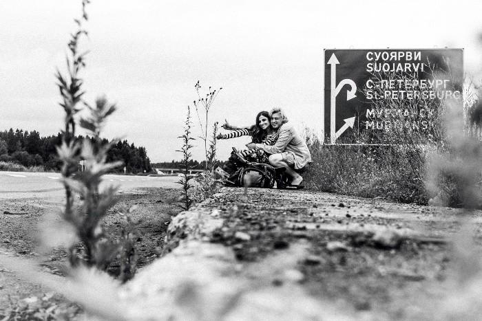 Autoestopistas en Rusia