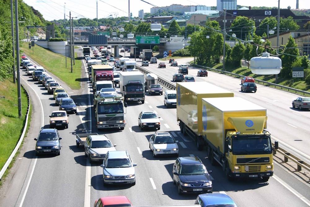 Atasco entrada en autopista