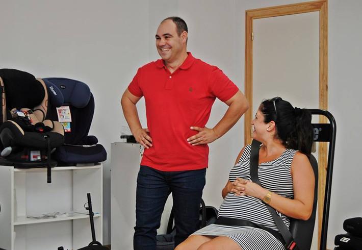 Ricardo Alemán en un momento del curso sobre SRI para embarazadas