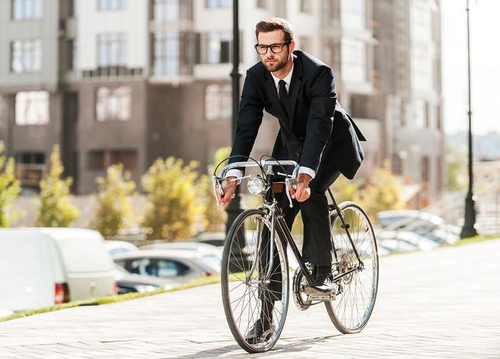 circulando en bici