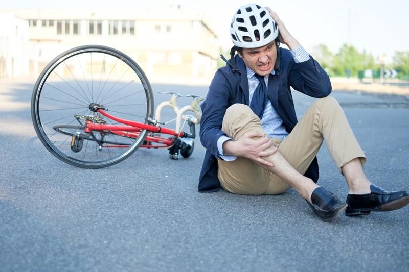Ciclista accidentado