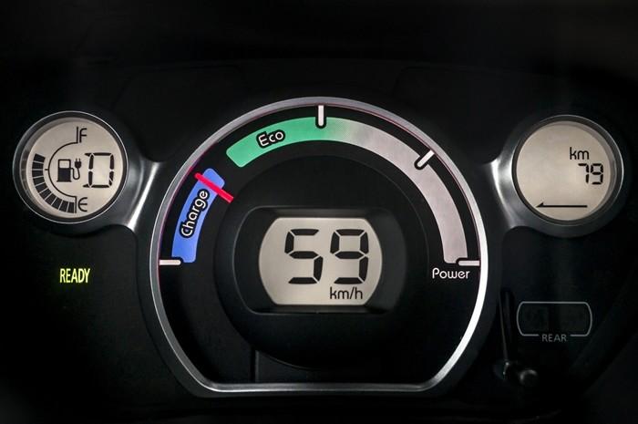 Tablero de un coche eléctrico