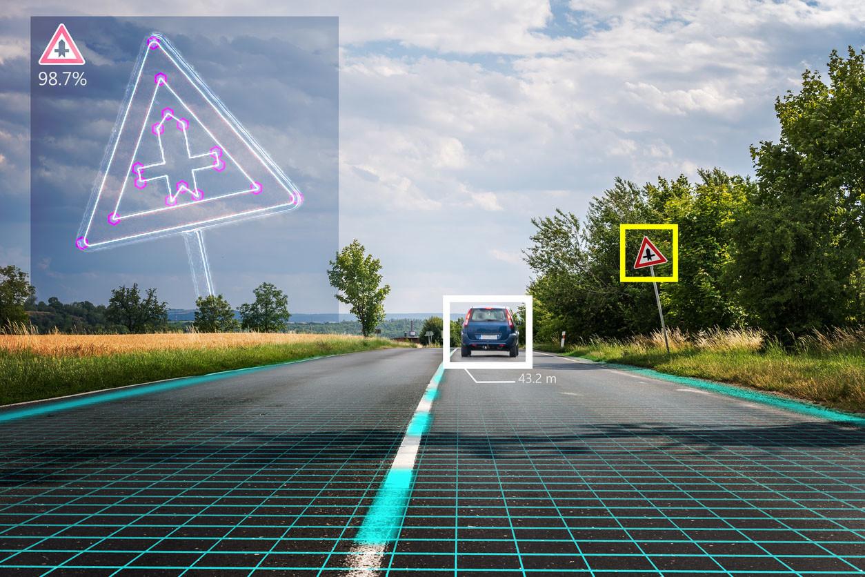cómo ve la carretera un vehículo autónomo