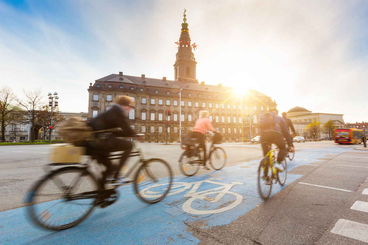 Carril bici en Copenhague