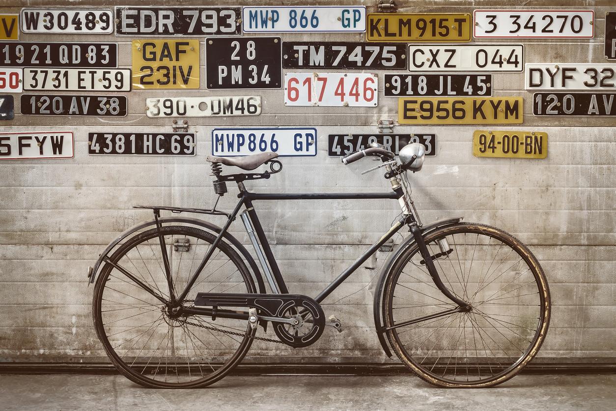 Bicicleta y matrícula