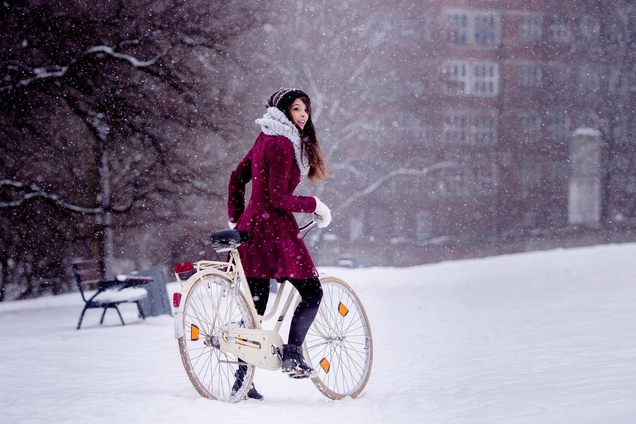 Bicicleta y nieve