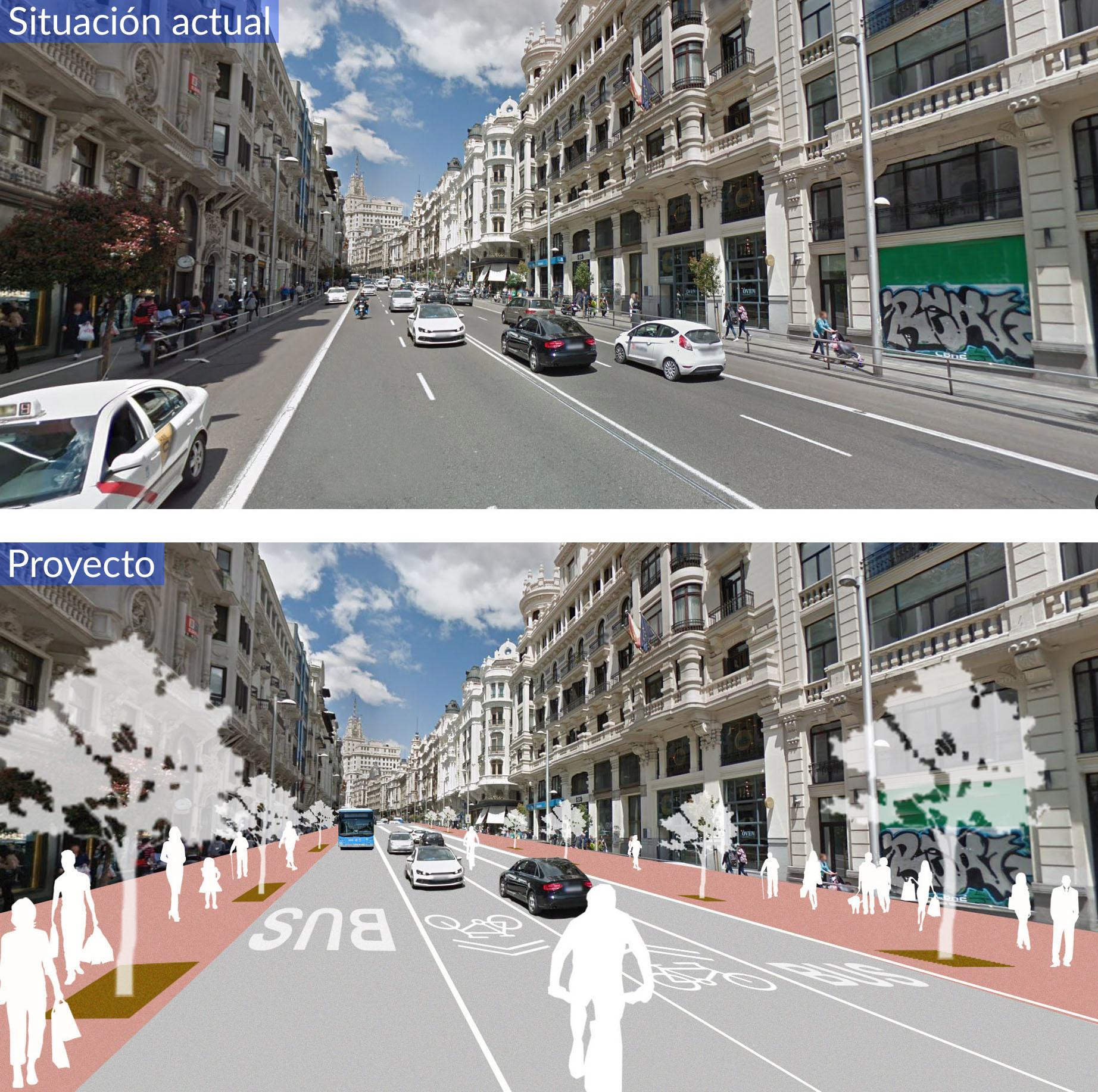 30 Futura Gran Vía a 30 km/h. | Fuente: Ayuntamiento de Madrid