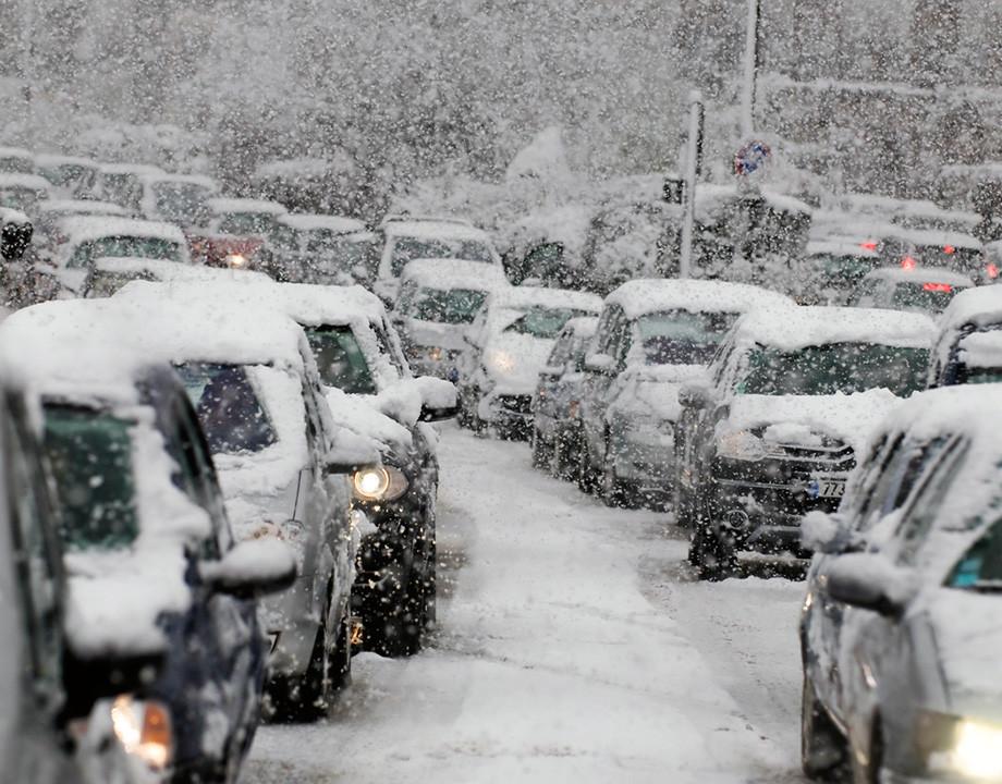 nieve carretera helada colores invierno