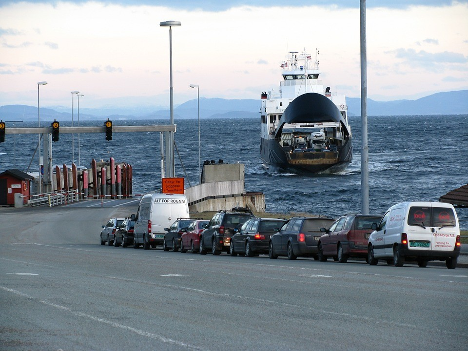 coches en ferry