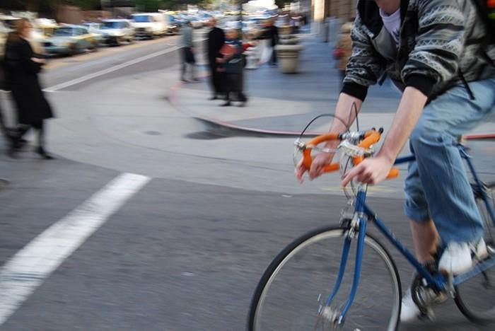 ciclista ciudad seguridad