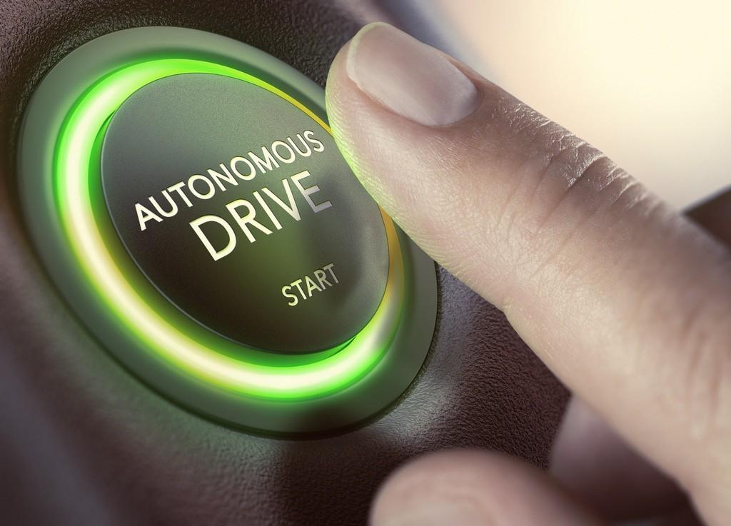 Botón de conducción autónoma