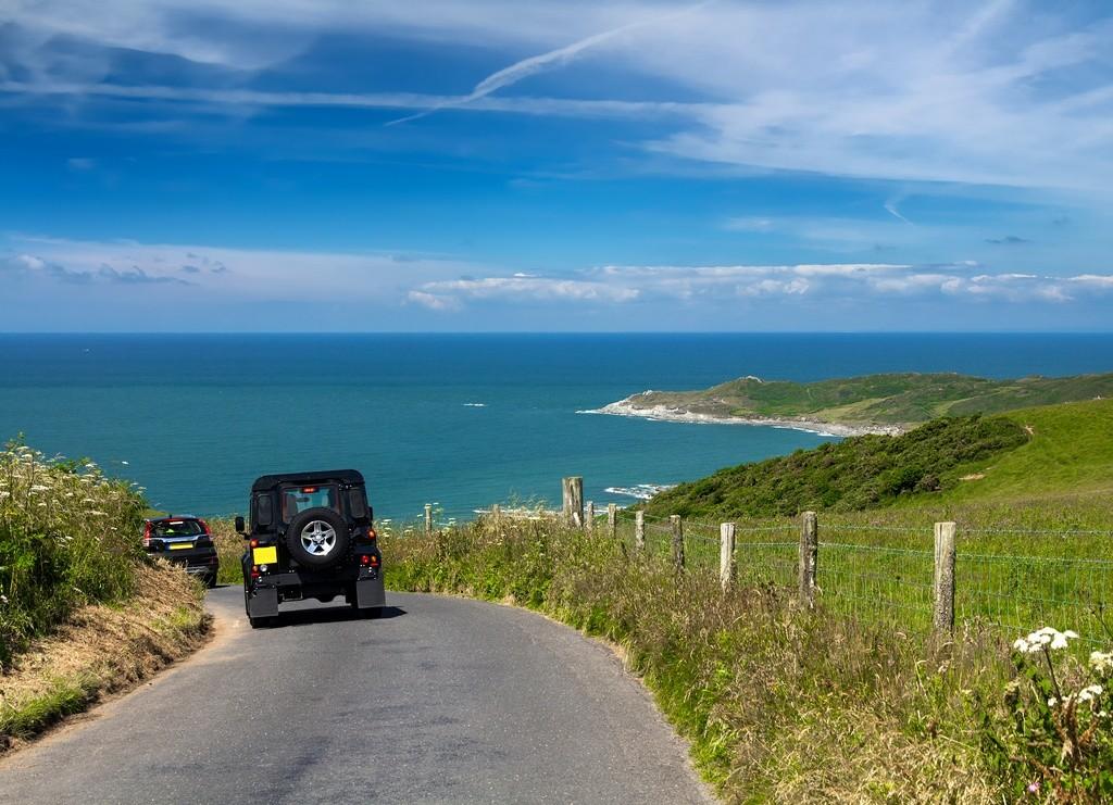 Carretera de camino a la playa