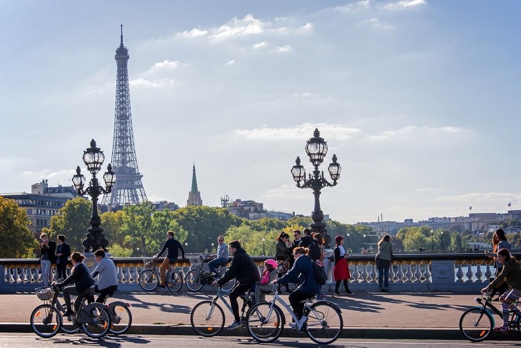 Bicicletas en París (Francia)