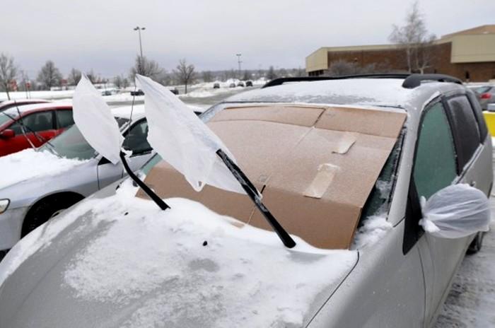 Circula Seguro hielo en el parabrisas