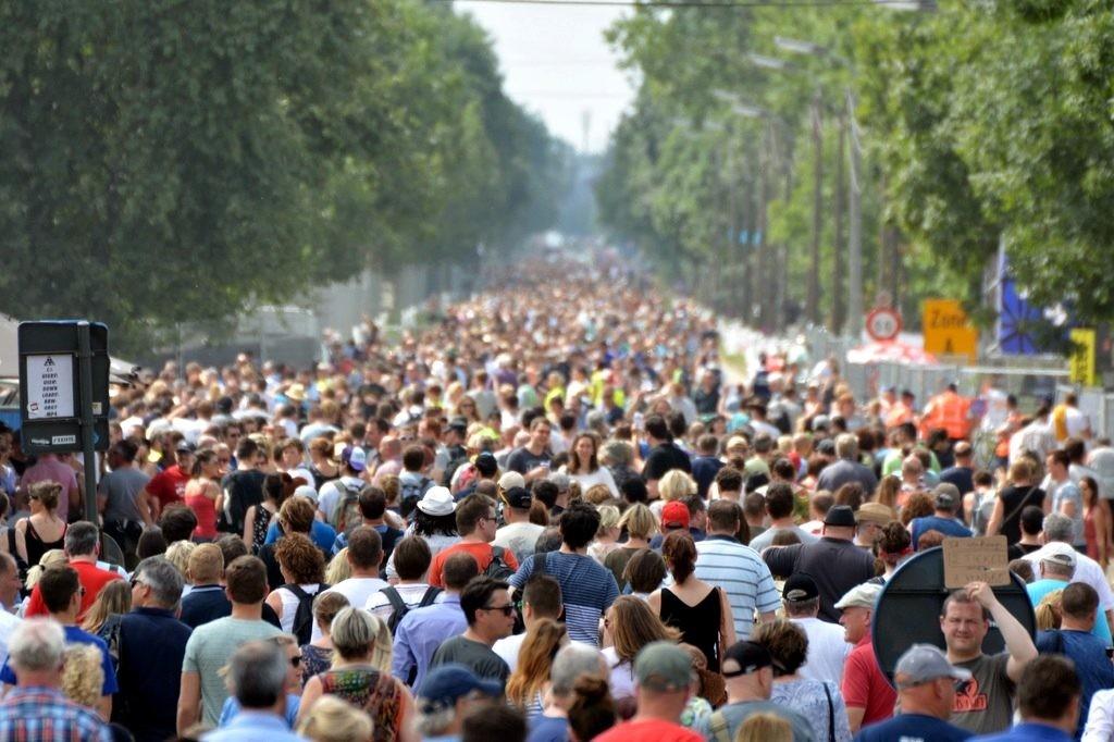 movilidad en una manifestacion