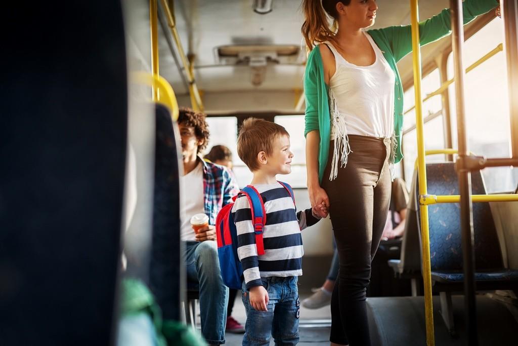 Al cole en autobús