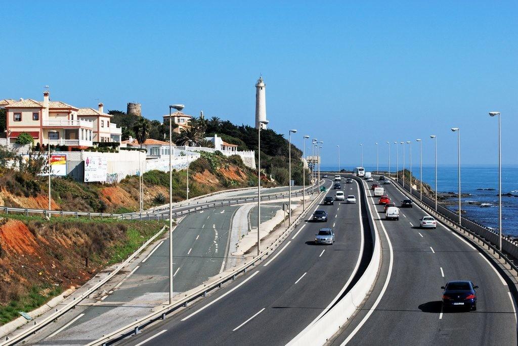 Autopista en Andalucía