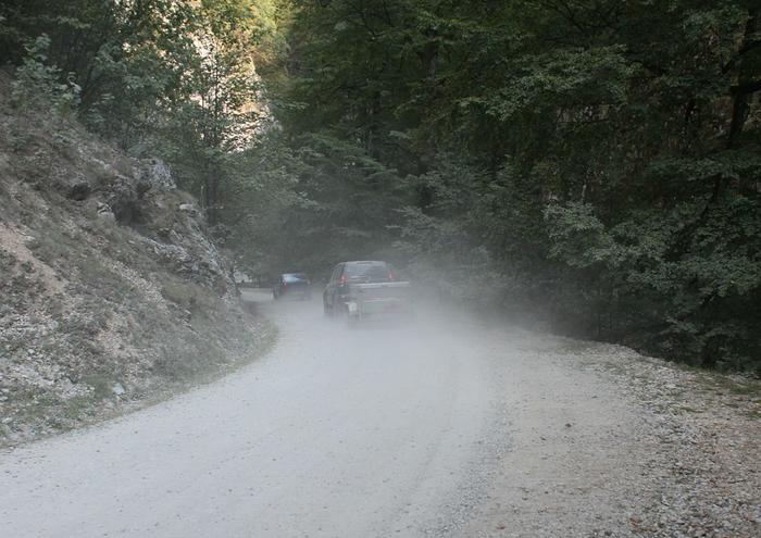 Filtro de ar - estrada com pó