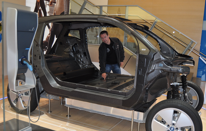 Chassis em carbono do BMW i3