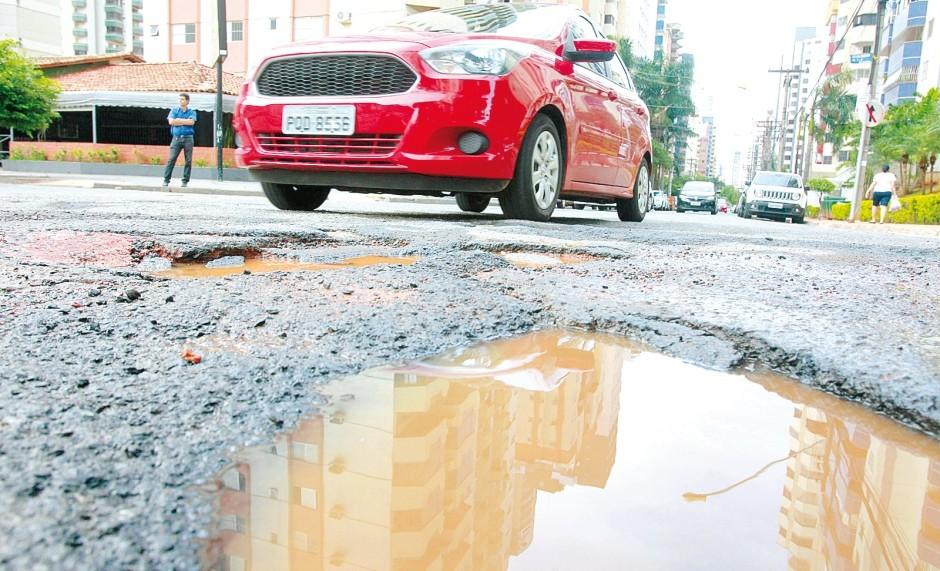 buracos no asfalto